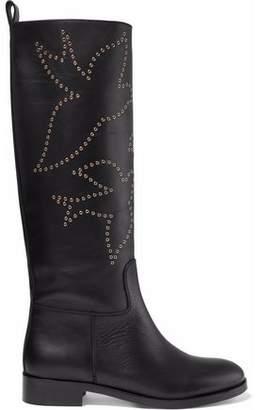 RED Valentino Eyelet-Embellished Leather Boots
