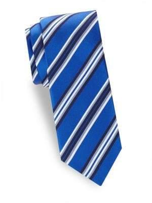Saks Fifth Avenue Striped Silk Tie