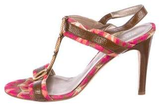 Missoni Patent Leather Slingback Sandals