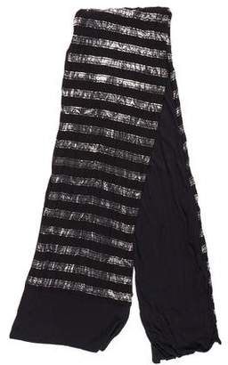 Yigal Azrouel Metallic Striped Scarf