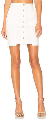 J.O.A. Slim Fit Button Down Denim Skirt $70 thestylecure.com