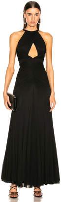 Alexander McQueen Halter Evening Dress in Black | FWRD