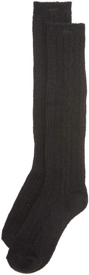 Free People Cable Knee High Socks