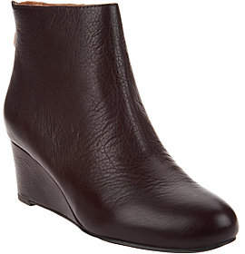 Kenneth Cole Gentle Souls by Gentle Souls Leather Wedge Ankle Boots - Vicki
