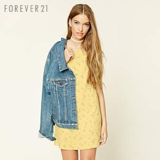 Forever 21 (フォーエバー 21) - Forever 21 フラワーレーサーバックキャミワンピース