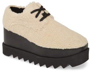Stella McCartney Elyse Faux Shearling Platform Sneaker