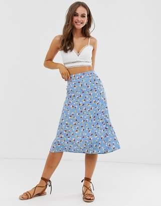Faithfull The Brand Faithfull Racquel midi skirt