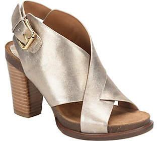 Sofft Leather Platform Sandals - Cambria