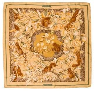 Hermes Casse Noisette Silk Scarf