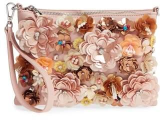 Chelsea28 Fleur Convertible Faux Leather Wristlet