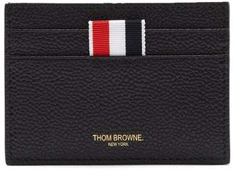 Thom Browne Grained Leather Cardholder - Mens - Black