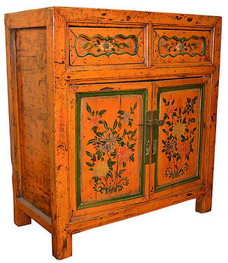 One Kings Lane Vintage Antique Chinese Cabinet - FEA Home