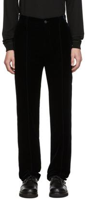 Giorgio Armani Navy Velvet Trousers
