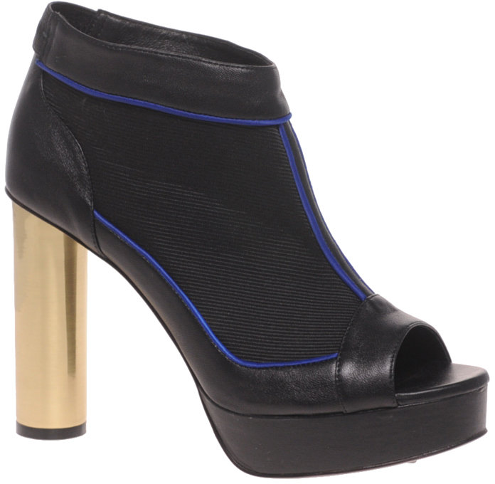 ASOS BLACK BLAST Peep Toe Cylindrical Heel Shoe Boot