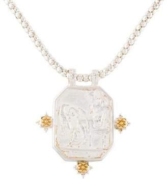 Tagliamonte Pearl & Venetian Cameo Pendant Necklace