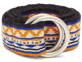 Guanabana - Patterned Woven Belt - Mens - Orange Multi