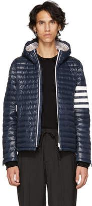 Thom Browne Navy Quilted Four Bar Jacket