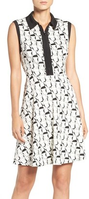 Betsey Johnson Collared Fit & Flare Dress $148 thestylecure.com
