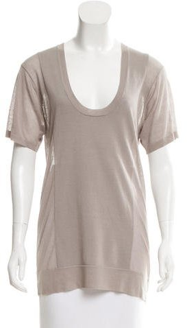 Alexander Wang T by Alexander Wang Scoop Neck Short Sleeve Top