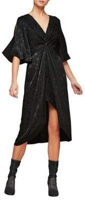 Miss Selfridge Star Jacquard Wrap Dress