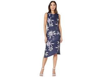 1dbfd30e6c9d Vince Camuto Printed Scuba Bodycon Dress with Asymmetrical Hem