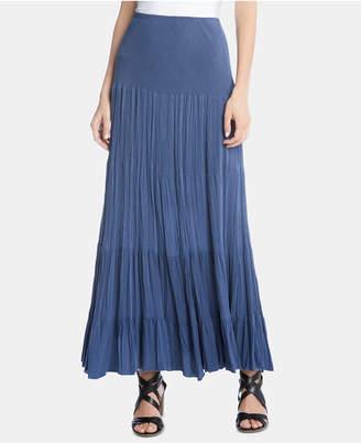 Karen Kane Crinkled Tiered Maxi Skirt