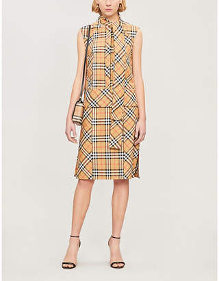 Burberry Vintage Check sleeveless cotton dress