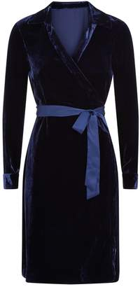 Diane von Furstenberg Tanya Velvet Wrap Dress