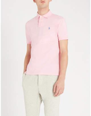 Polo Ralph Lauren Logo-embroidered slim-fit cotton-piqué polo shirt
