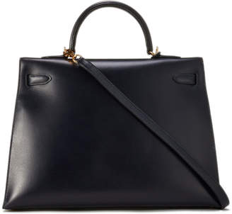 Hermes Vintage Kelly 35 Chevre Satchel Bag