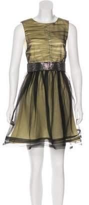 Alice + Olivia Sleeveless Mesh Dress