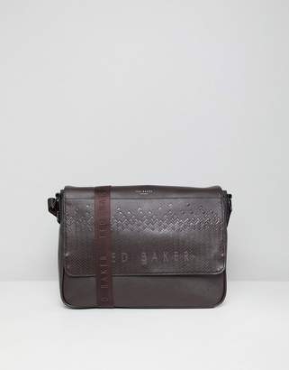 Ted Baker Wowee Embossed Messenger Bag