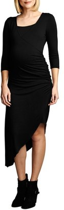 Women's Maternal America Asymmetrical Hem Nursing Dress $148.80 thestylecure.com