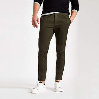 River Island Green ankle grazer skinny pants