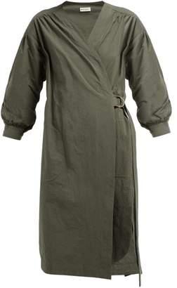 Masscob Marco Long Sleeve Wrap Dress - Womens - Khaki