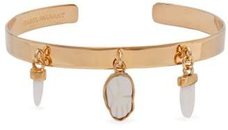Isabel Marant Hamsa Symbol Charm Bangle - Womens - White