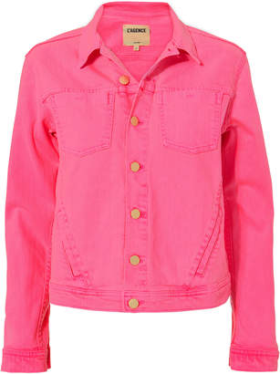 L'Agence Celine Pink Denim Jacket