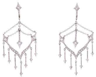 Cathy Waterman Platinum Diamond Chandelier Earrings