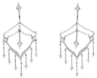 Cathy Waterman Platinum Diamond Chandelier Earrings