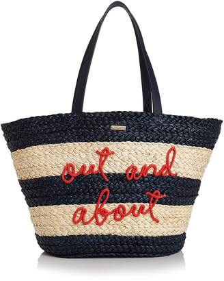 Kate Spade Out & About Straw Tote