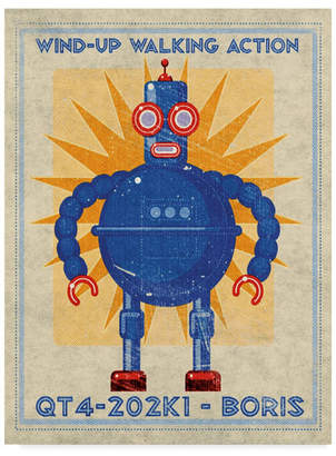 "John W. Golden 'Boris Box Art Robot' Canvas Art - 35"" x 47"""