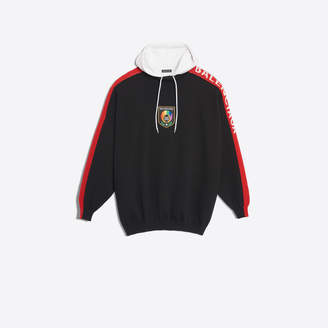 Balenciaga Virgin wool and jersey cotton mix sweater