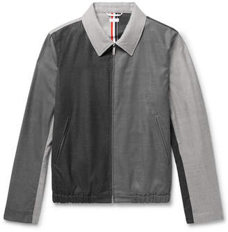 Thom Browne Slim-Fit Colour-Block Wool Blouson Jacket