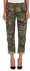 RE/DONE Women's Camouflage Crop Cargo Pants - Dk. Green