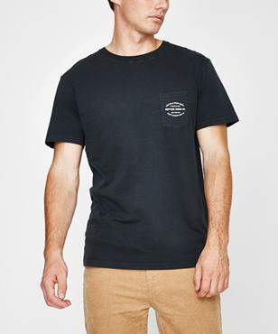 rhythm Pocket Tshirt Dusted Charcoal