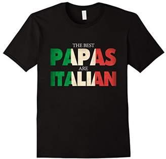 Funny Italian Papa Gift Best Papas Are Italian Flag