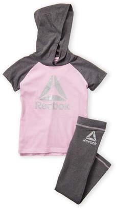 Reebok Girls 7-16) Two-Piece Short Sleeve Hoodie & Leggings Set