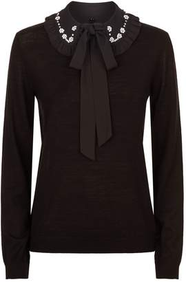 Claudie Pierlot Embellished Collar Sweater