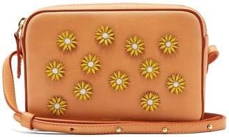 Mansur Gavriel Cammello floral-embellished leather cross-body bag
