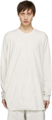 Julius White Draping Long Sleeve T-Shirt